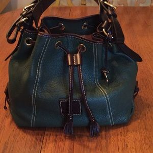 Dooney&Bourke Pebble Grain Leather Drawstring Bag